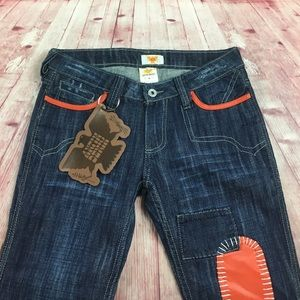 Antik Denim Jeans - 💙Antik Denim distress w/leather patches size 27